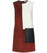Edun Suede And Leather Dress Red