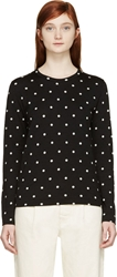 Comme Des Garcons Black And White Polka Dot Long Sleeve Shirt