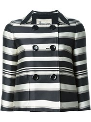 Herno Striped Jacket Black