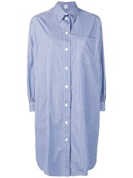 Aspesi Asymmetric Shirt Dress Blue