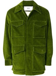 Ami Alexandre Mattiussi Paris Sherpa Lined Safari Jacket Green