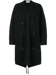Alexander Wang T By Oversized Parka Black