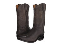 Lucchese Leadville Anthracite Grey Cowboy Boots Gray