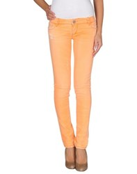 Jfour Denim Denim Trousers Women Orange