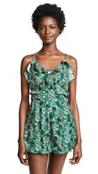 The Fifth Label Viridian Romper Jade Floral Bloom