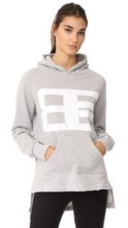 Baja East Graphic Hoodie Light Grey
