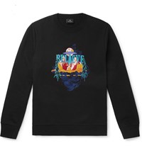 Paul Smith Ps Embroidered Loopback Organic Cotton Jersey Sweatshirt Black