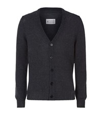 Maison Martin Margiela Destroyed Mohair Blend Cardigan Male Grey