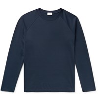 Handvaerk Pima Cotton Jersey T Shirt Blue