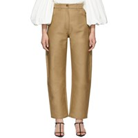 Edit Beige Banana Trousers
