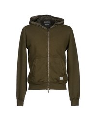 Esemplare Topwear Sweatshirts Men Military Green