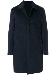 Dell'oglio Single Breasted Coat Polyamide Polyester Acetate Wool Blue