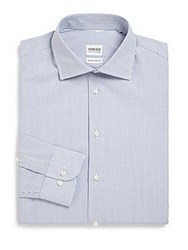 Giorgio Armani Modern Fit Check Dress Shirt Blue