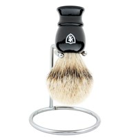 Min New York Mixed Badger Shave Brush Black