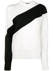 Calvin Klein 205W39nyc Paneled Sweater Nude And Neutrals
