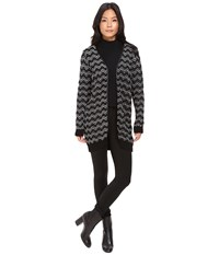 Mavi Jeans Jacquard Cardigan Black Women's Sweater