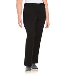 Rafaella Plus Straight Leg Dress Pants Black