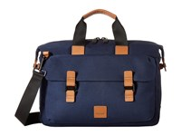 Knomo London Fulham Tournay Topload Briefcase Navy Briefcase Bags