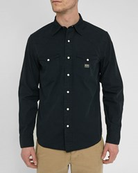 Denim And Supply Ralph Lauren Black Western Poplin Shirt