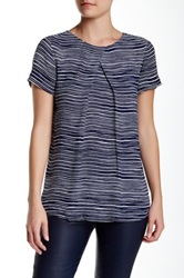 Lk Bennett Lea Pleat Blouse Blue