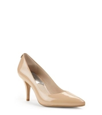 Michael Kors Flex Patent Leather Mid Heel Pump Nude