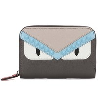 Fendi Leather Zip Around Wallet Multicoloured