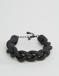 Asos Rubber Bracelet In Black Black