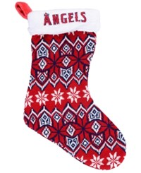 Forever Collectibles Los Angeles Angels Ugly Sweater Knit Team Stocking Red