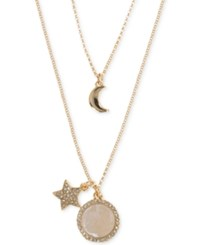 Ivanka Trump Rose Gold Tone Two In One Star And Moon Charm Pendant Necklace