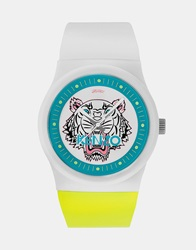 Kenzo Watch With Tiger Head Whte