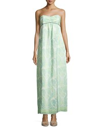 Sail To Sable Strapless Pleated Maxi Dress Paisley Print