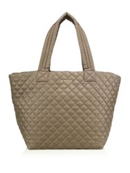M Z Wallace Oxford Medium Metro Quilted Nylon Tote Fawn Oxford