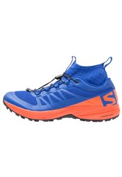 Salomon Xa Enduro Trail Running Shoes Surf The Web Flame Black Blue