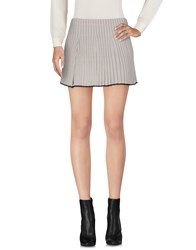 Haal Mini Skirts Light Grey