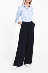 Theory Women S Ryeridge Wide Leg Trousers Boutique1 Navy