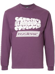 Hysteric Glamour Embroidered Sweatshirt Pink And Purple