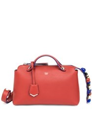Fendi By The Way Small Studded Leather Satchel Terracotta