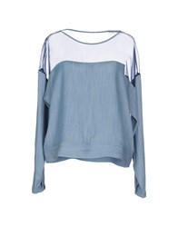 5Preview Shirts Blouses Women Sky Blue