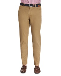 Peter Millar Garment Dyed Stretch Pants Khaki