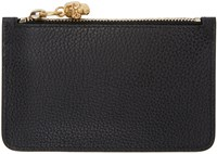 Alexander Mcqueen Black Leather Coin Pouch