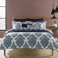 Christy Siam Duvet Set Indigo Blue White