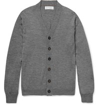 Brunello Cucinelli Cashmere And Silk Blend Cardigan Gray