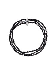 M Cohen M. Beaded Wrap Bracelet Black