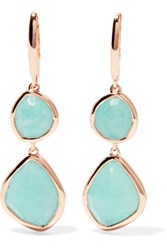 Monica Vinader Siren Rose Gold Vermeil Amazonite Earrings One Size