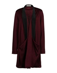 Master And Muse X Isabell De Hillerin Cardigans Maroon