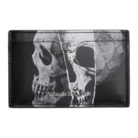 Alexander Mcqueen Black Torn Skull Card Holder