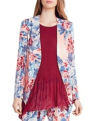 Bcbgeneration Floral Print Tuxedo Blazer Pink Clay Multi