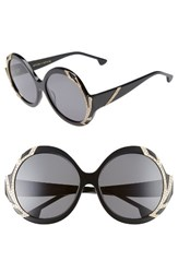 Alice Olivia Women's Stacey Crystal 59Mm Gradient Lens Round Sunglasses