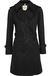 Tod's Leather Trimmed Cotton Twill Trench Coat
