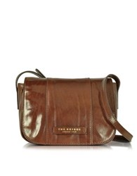 The Bridge Passpartout Donna Marrone Leather Crossbody Bag Brown